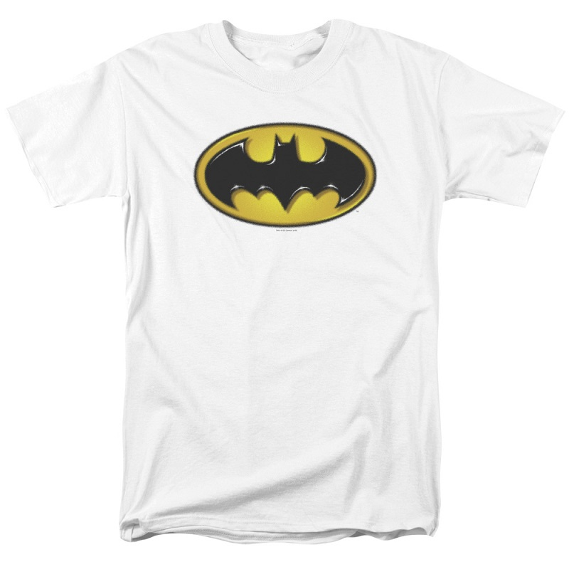 Batman Airbrushed Logo White Tshirt