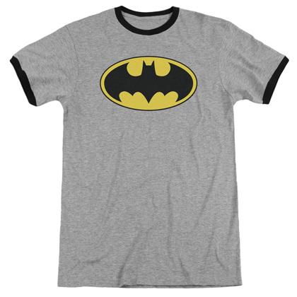 Batman Classic Logo Ringer Tshirt