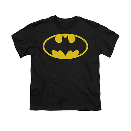 Batman Classic Logo Black Youth Unisex T-Shirt