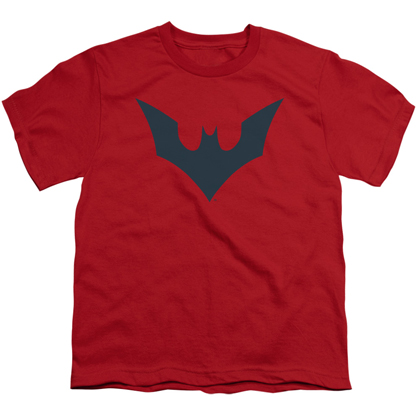 Batman Beyond Logo Red Youth Tshirt