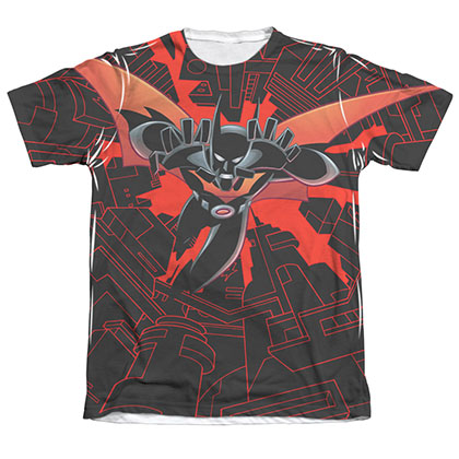 Batman Men's Beyond Drop Down Sublimation Tee Shirt