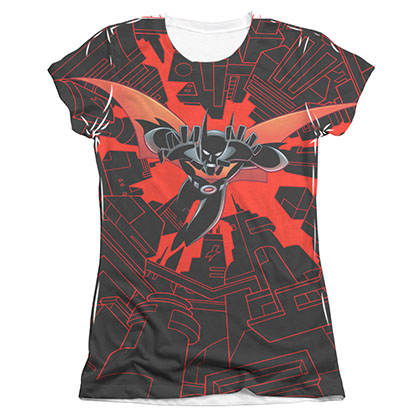 Batman Beyond Drop Down Sublimation Juniors Tee Shirt