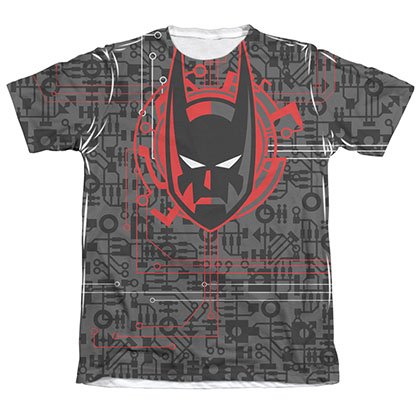 Batman Men's Beyond Tech Cowl Sublimation Tee Shirt