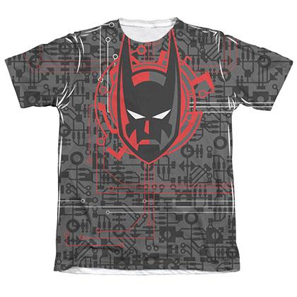 Batman Men's Beyond Tech Cowl Sublimation Tee Shirt