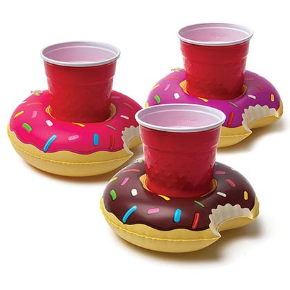 Donut Floating Inflatable Pool Can Coolers