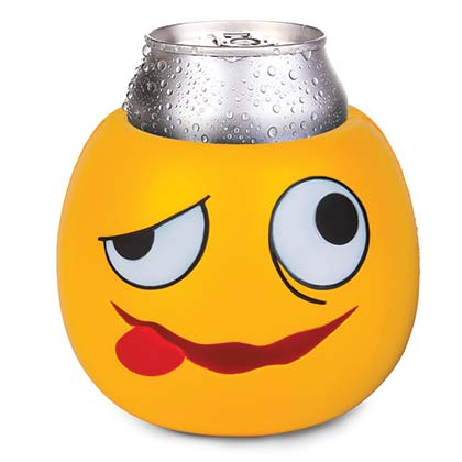 Drunk Emoji Face Beer Can Cooler
