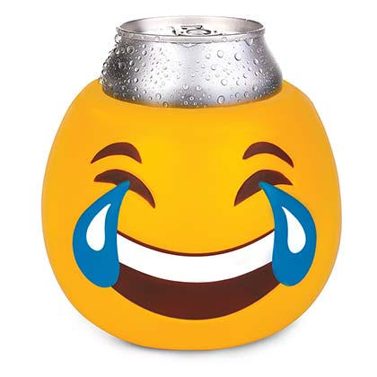 Tears Of Joy Emoji Face Beer Koozie