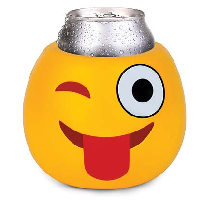 Wink Emoji Face Beer Can Cooler