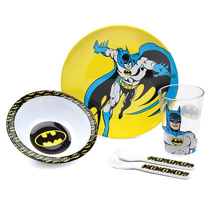 Batman Youth Melamine 5 Piece Mealtime Set