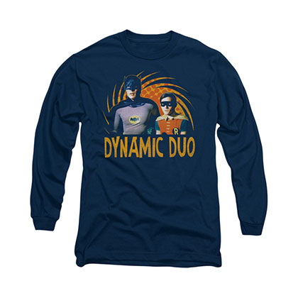 Batman Classic TV Dynamic Duo Blue Long Sleeve T-Shirt