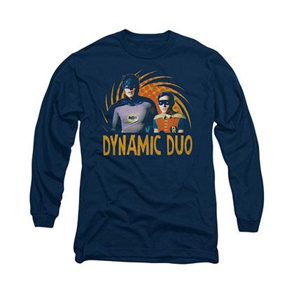 Batman Classic TV Dynamic Duo Blue Long Sleeve T-Shirt