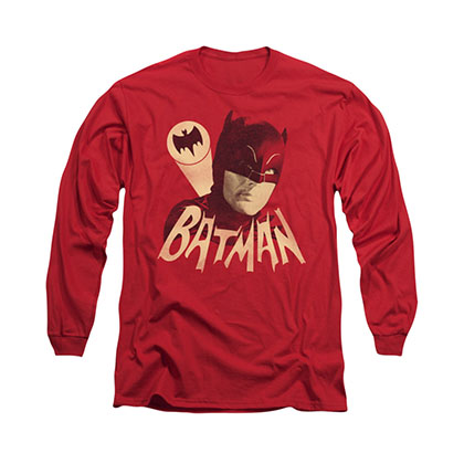 Batman Classic TV Bat Signal Red Long Sleeve T-Shirt