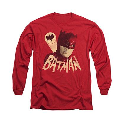 Batman Classic TV Bat Signal Red Long Sleeve T-Shirt