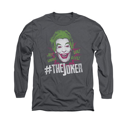 Batman Classic TV Joker Gray Long Sleeve T-Shirt