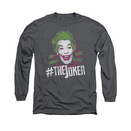 Batman Classic TV Joker Gray Long Sleeve T-Shirt