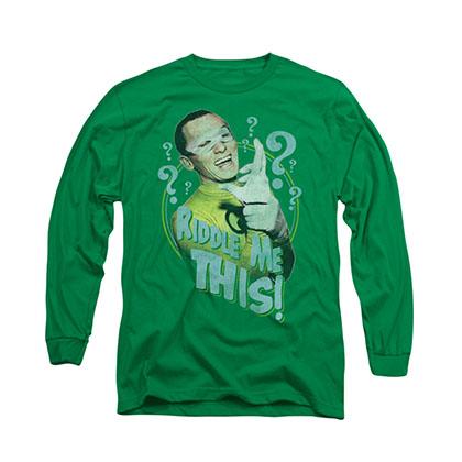 Batman Classic TV Riddler Green Long Sleeve T-Shirt
