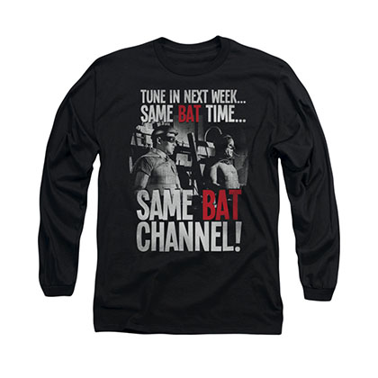 Batman Classic TV Bat Channel Black Long Sleeve T-Shirt