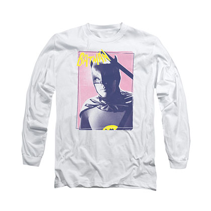 Batman Classic TV Wayne White Long Sleeve T-Shirt
