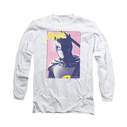 Batman Classic TV Wayne White Long Sleeve T-Shirt