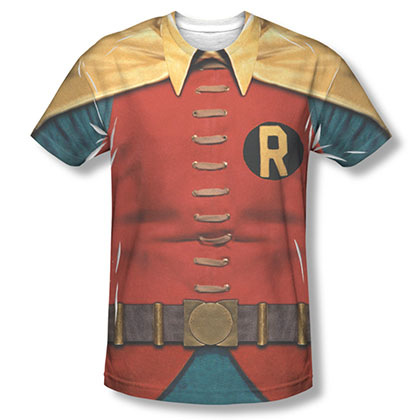 Batman Classic TV Red Robin Sublimation Costume Tee Shirt
