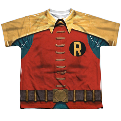 Robin Classic Batman and Robin Youth Costume Tee