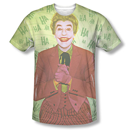 Batman Men's Green Classic TV Joker Sublimation T-Shirt
