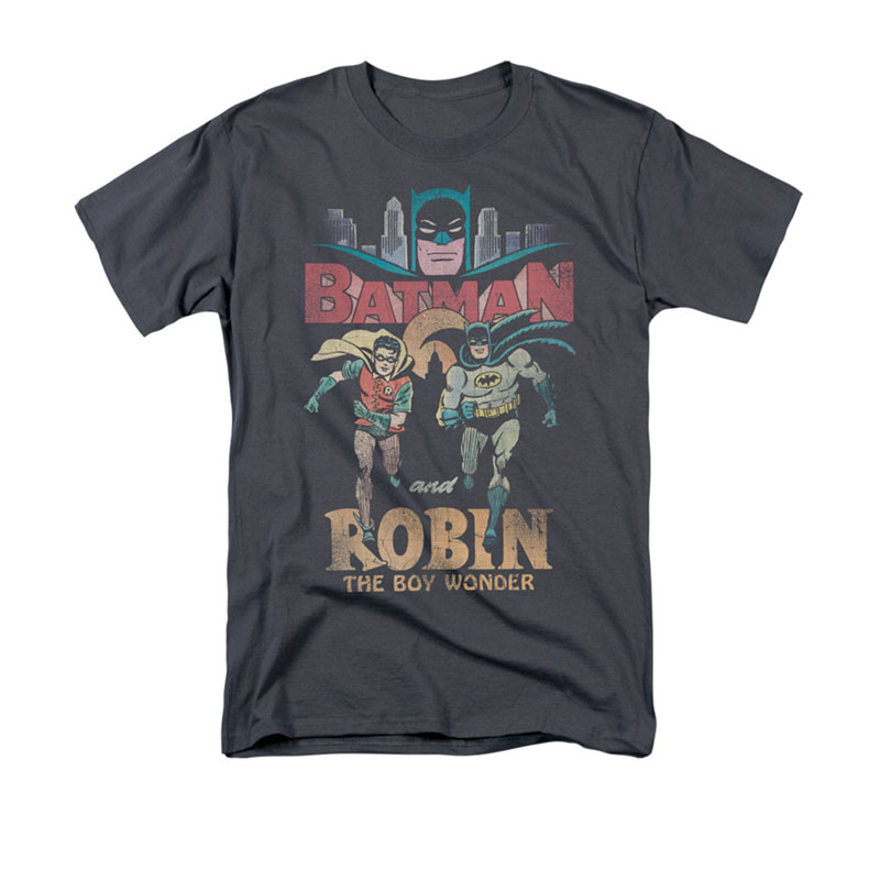 Batman Robin Classic TV Gray Tee Shirt