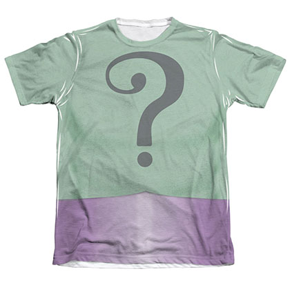 Batman Men's Classic TV Riddler Sublimation Costume Tee Shirt
