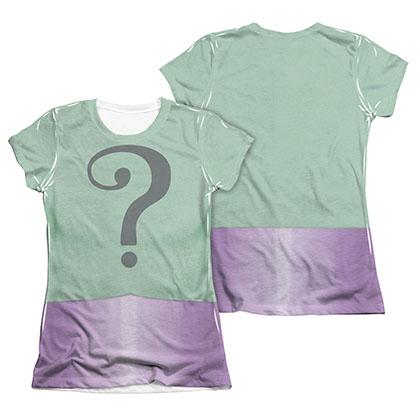 Batman Juniors Classic TV Riddler Sublimation 2-Sided Costume Tee Shirt