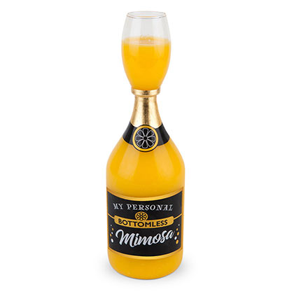 Bottomless Mimosa Bottle Glass