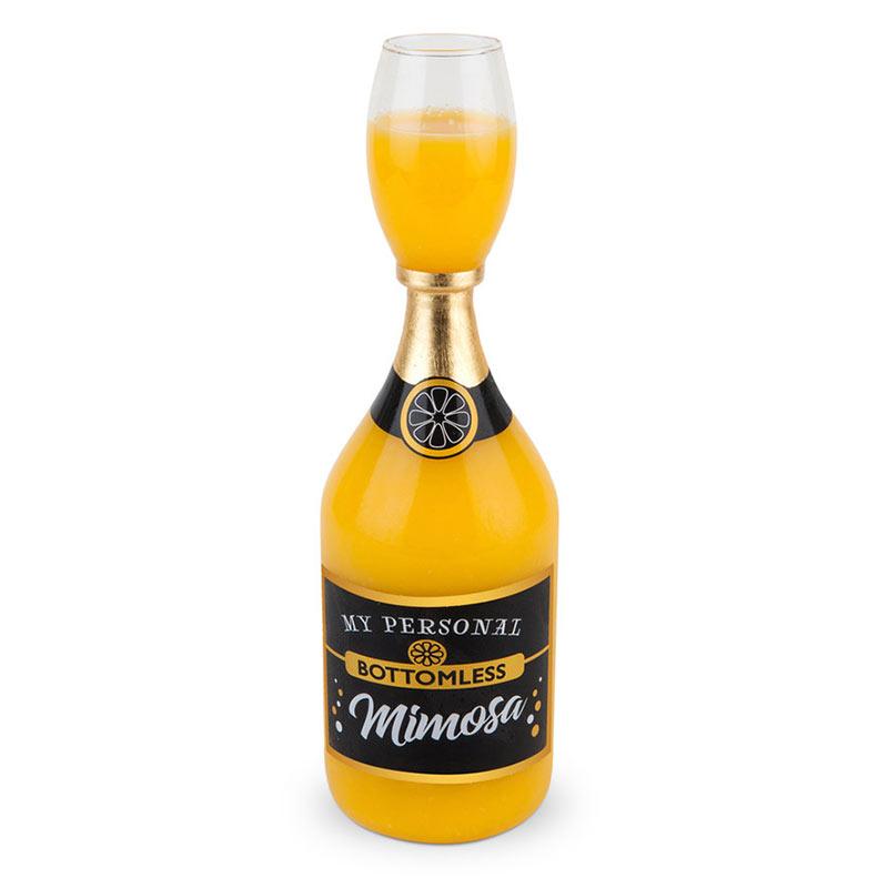 Bottomless Mimosa Bottle Glass