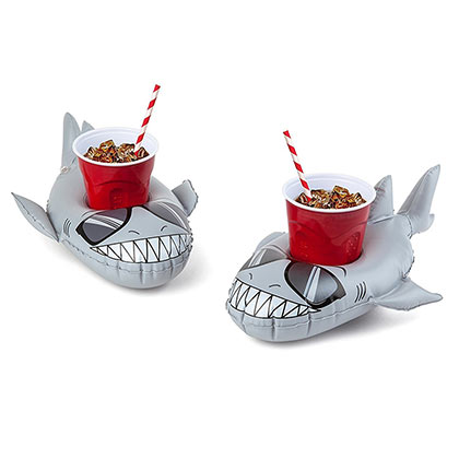 Super Chill Grey Shark Inflatable Beer Floats