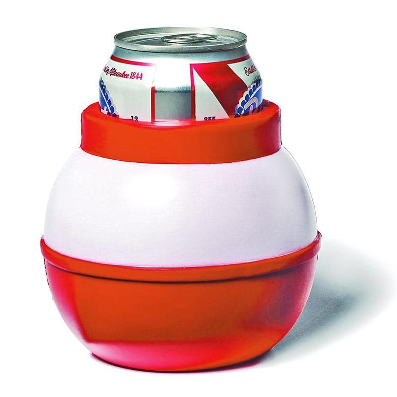Styrofoam Beer Can Cooler ~ Fishing bobber foam beer can cooler
