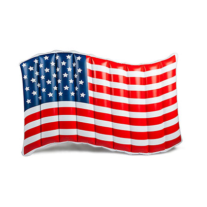 Patriotic American Flag Pool Float