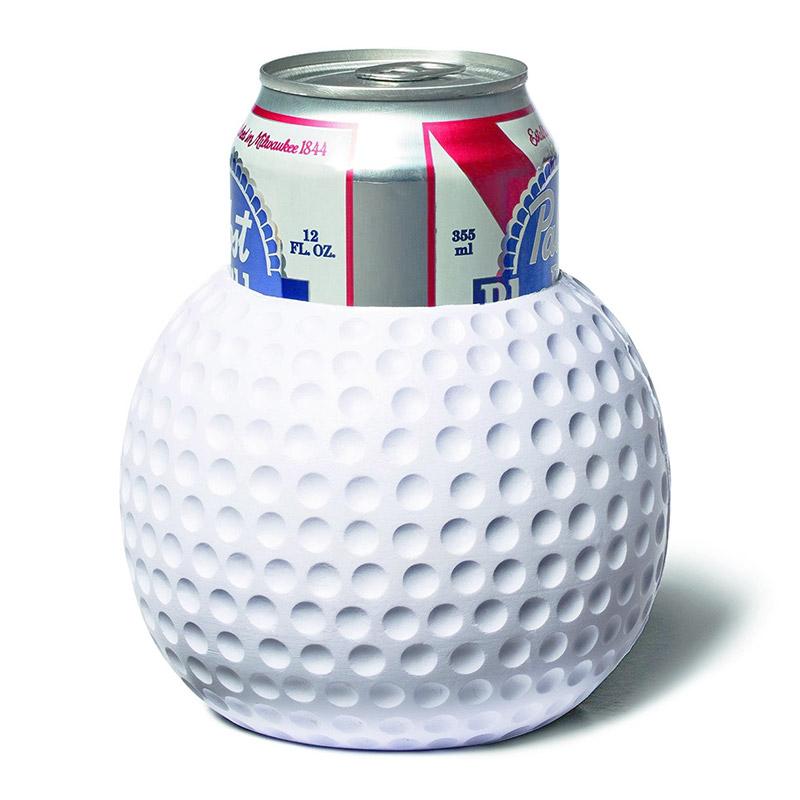 Styrofoam Beer Can Cooler ~ Golf ball foam beer can cooler