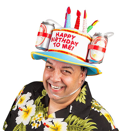 Happy Birthday Beer Drinking Hat