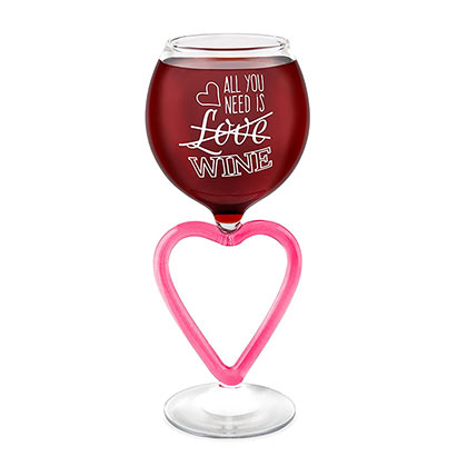 All You Need Is Wine Heart Wine Glass