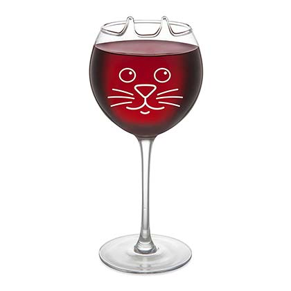 Purrfect Cat Face Wine Glass