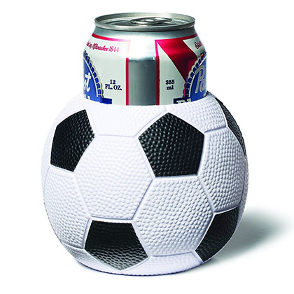 Soccer Ball Beer Can Cooler