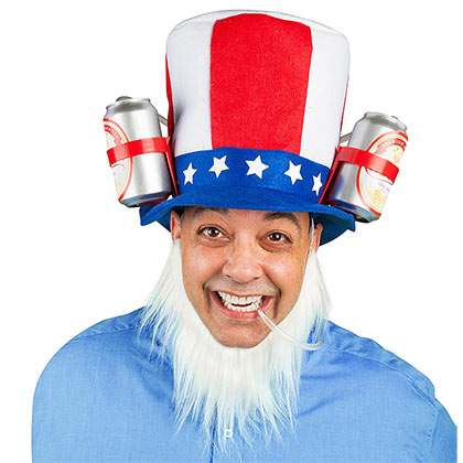 Uncle Sam Guzzler Hat