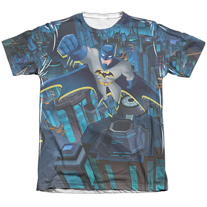 Batman Cityscape Sublimation T-Shirt