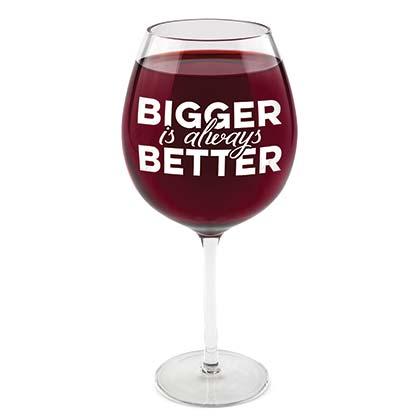 Bigger Is Better Whole Bottle Wine Glass