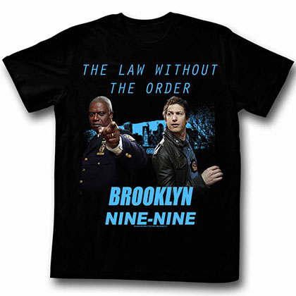 Brooklyn Nine Nine Divine Fits Black Tee Shirt