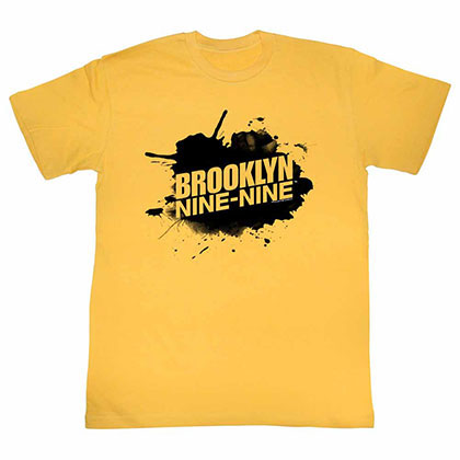 Brooklyn Nine Nine Sploosh Yellow Tee Shirt