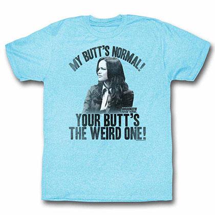 Brooklyn Nine Nine Butts Blue Tee Shirt
