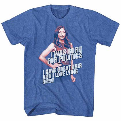 Brooklyn Nine Nine Gina Politics Blue Tee Shirt
