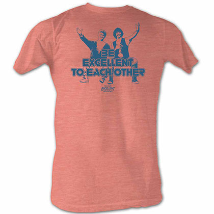 Bill And Ted Excellent Orange Tee Shirt