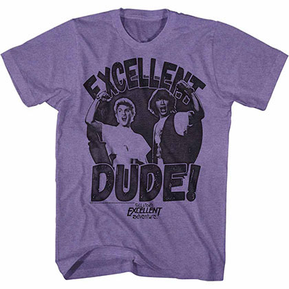 Bill And Ted Excellent Dude Purple TShirt