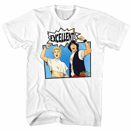 Bill And Ted Comic White Tee Shirt