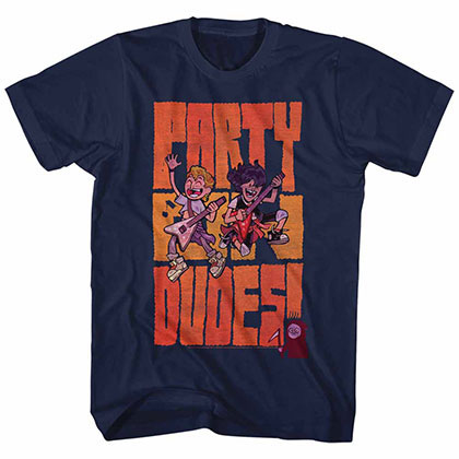 Bill And Ted Partydudes Blue Tee Shirt